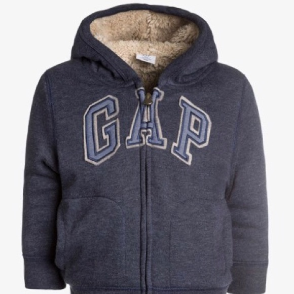 GAP Baby Boys Size 0-3 Months NWT Red Arch Logo Fleece Hoodie One-Piece Bunting